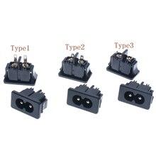 10 шт. черный штекер IEC320 C8 разъем питания AC 250 в А 2 контакта