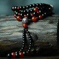 Ручной национальная этническая роскошные ювелирные изделия, мульти слои бирюзовый красный и черный агат браслет из бисера и длинное ожерелье
