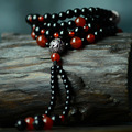Handmade national ethnic luxury jewelry, Multi layers turquoise red and black agate beaded bracelet&long necklace