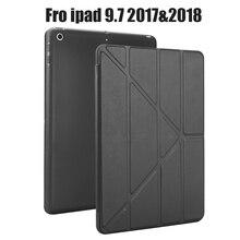 Чехол для нового iPad дюймов 2018 2017 выпуск, мягкий силиконовый низ + искусственная кожа смарт-чехол Авто сон для нового iPad 9,7 «A1893