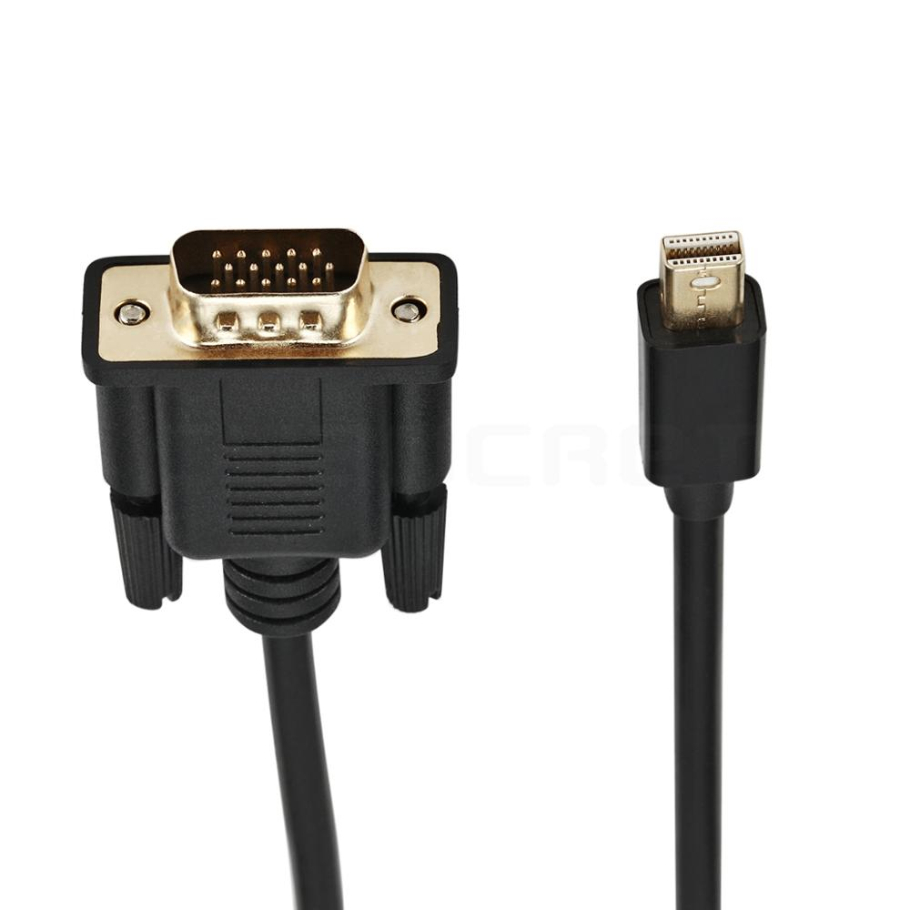 Video Cable Convert Mini Displayport DP to VGA Port 1.8M HD Cable Male-Male Adapter Connector for Computer TV Monitor Projector