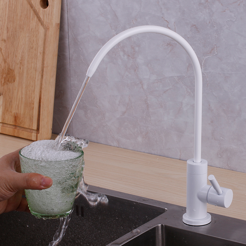 White And Black Drinking Water Filter Tap 304 Stainless Steel Food Material