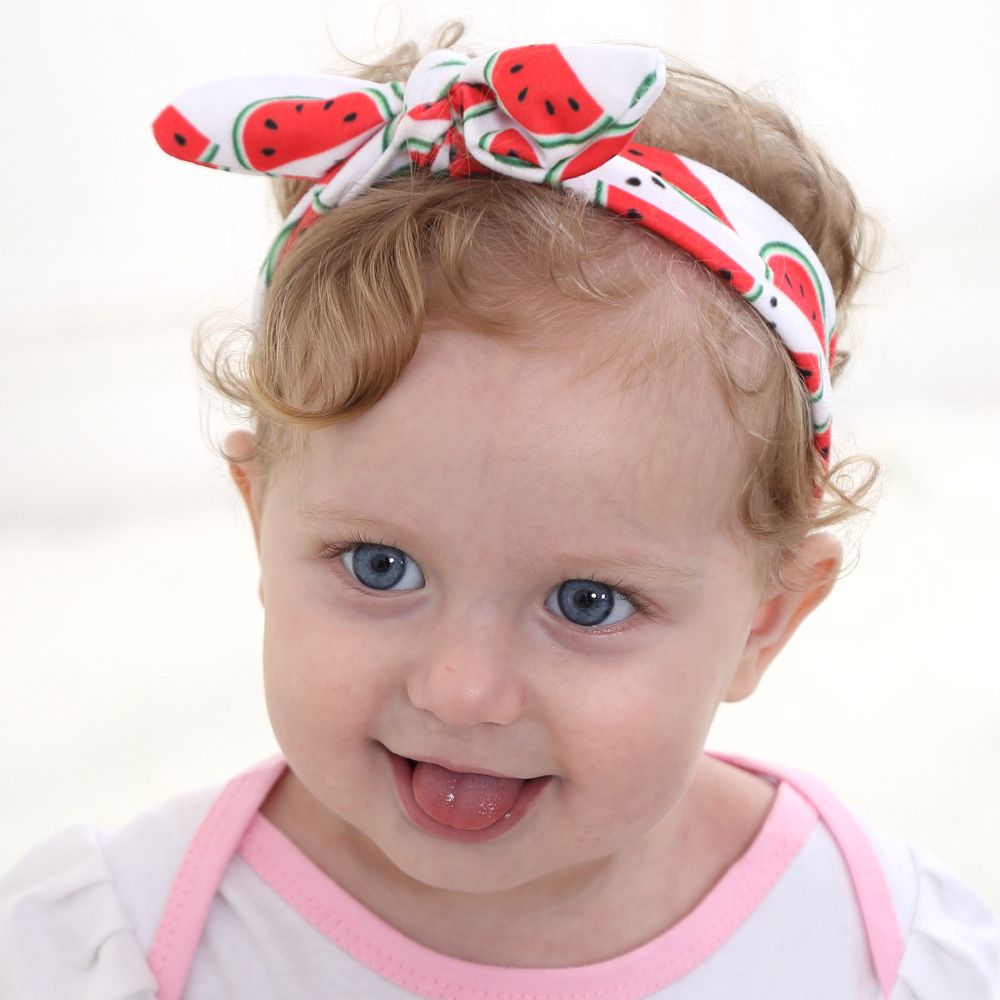 2016 New Watermelon Pineapple Diy Kids Girls Bow Headband