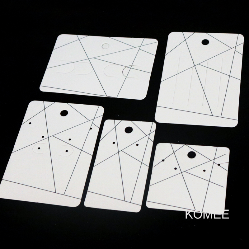 100pcs/lot Paper Earrings Card Stripes Design Jewelry Necklace Cards Favor Earring Hairpin Brooch Display Packaging Cards Tags