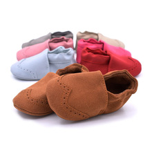 Baby nubuck leather shoes