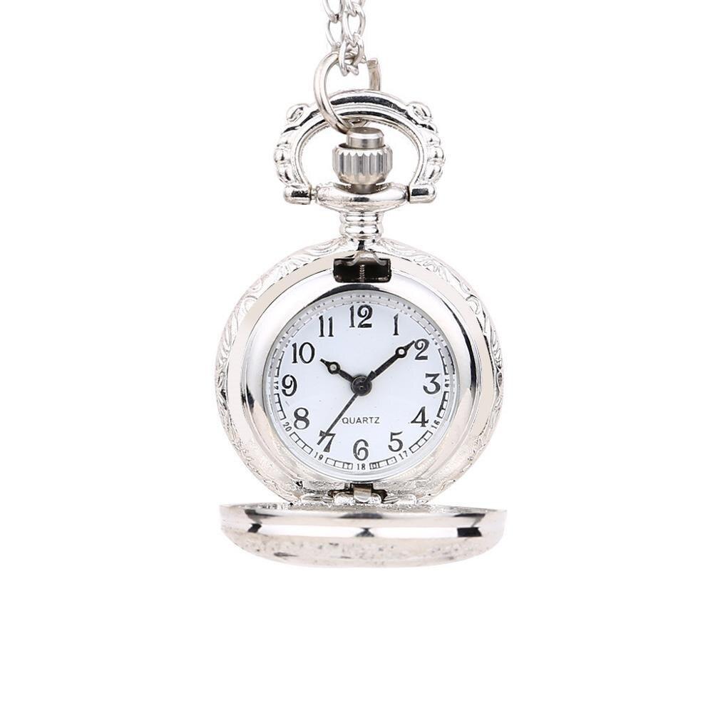 New Personality Quartz Vintage Pocket Watch Fashion Light Pendant Small Pocket Watch Man Woman Kid Gift Necklace Clock 2019 Q
