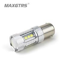 2x S25 1156 BA15S 30 Вт 50 Вт 80 Вт P21W CREE чип XBD светодио дный белый/красный/желтый Обратный Свет Резервное копирование светодио дный Обратный лампы источников света