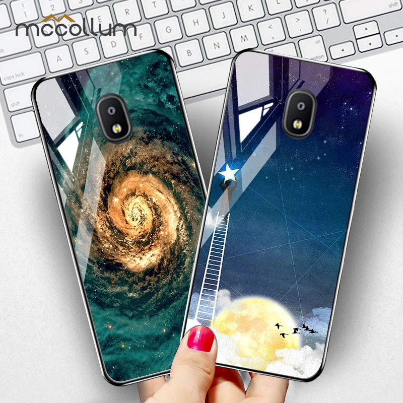 Phone Tempered Glass Case For Samsung Galaxy J7 2017 2015 J7 Plus Cases Space Silicone Cover for Samsung J7 Plus J2 Prime Capa