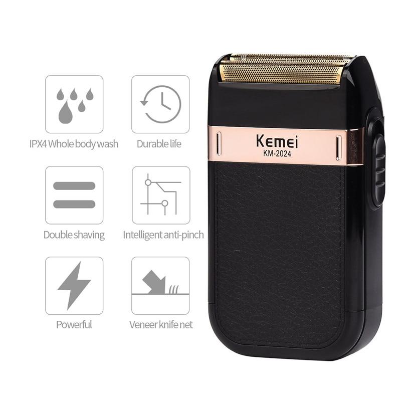 USB Charging Kemei Razor Electric Shaver Beard Trimmer Rechargeable Shaving Razor Men Face Care Shaver Dry Wet Dual Use цена и фото