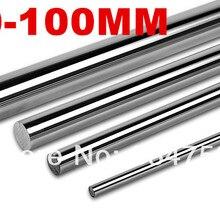 Линейный вал 20 мм 100 мм Длинный линейный стержень l100мм линейный круглый вал части ЧПУ линейный рельс 20 мм фрезерный станок с ЧПУ Запчасти