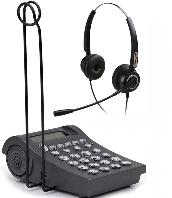 imágenes para Venta caliente oficina del centro de Llamadas/teléfono RJ9 auricular enchufe auriculares y teclado de marcación de negocios wtih 2.5mm y RJ9 jack