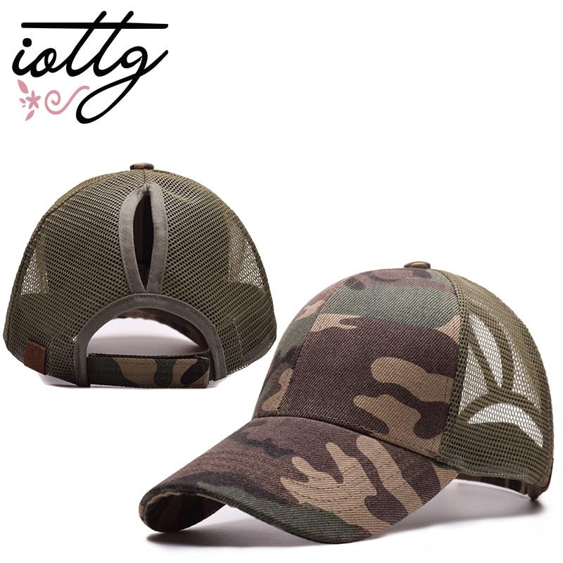 IOTTG 2018 New Arrival C.C Ponytail Baseball Cap Women's Cap Messy Bun Adjustable Cap Sport Snapback Hats