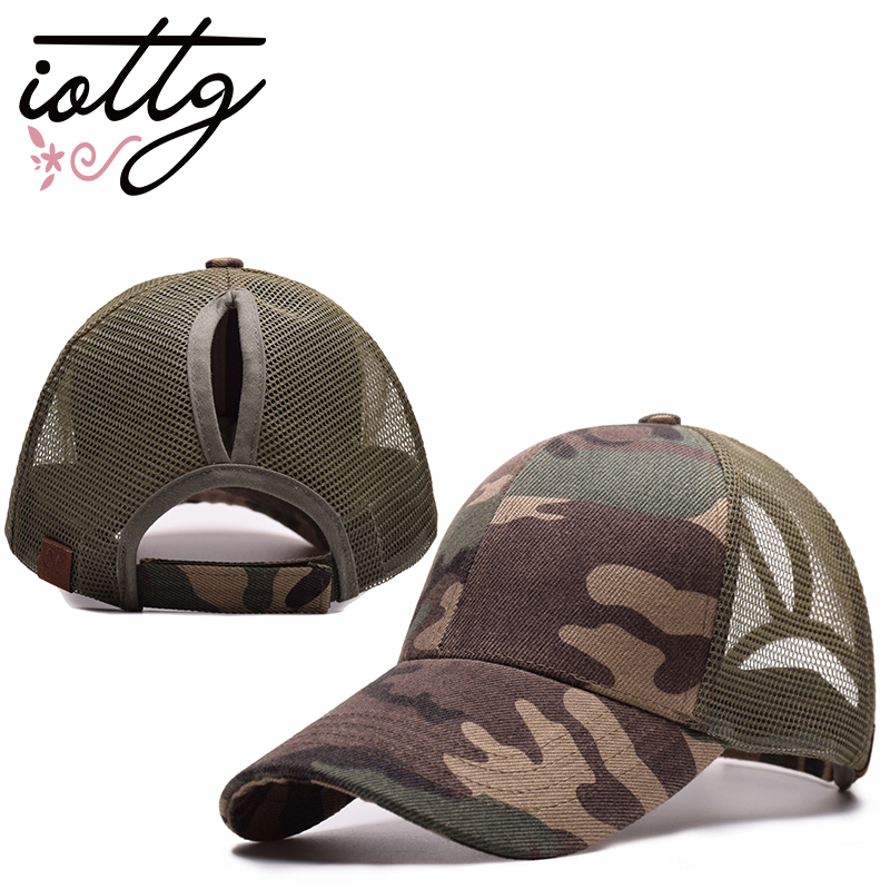 IOTTG 2018 New Arrival C.C Ponytail Baseball Cap Women's Cap Messy Bun Adjustable Cap Sport Snapback Hats