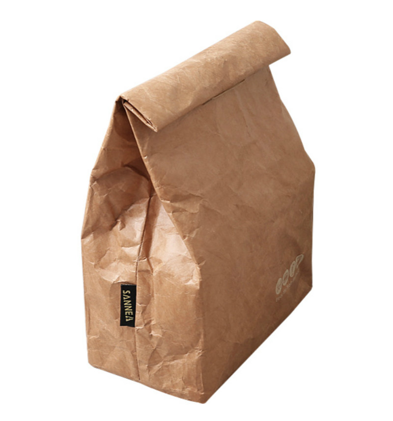 Waterproof, washable & insulate new Kraftpaper Lunch Bags 1