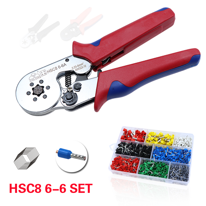 Crimping Mini Tools Cable Crimp Pliers Hsc8 6-6 Clip Wire Stripper Cutter Plier Set Electrical Terminal Crimper Tool
