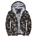 Men's Hoodies Sweatshirts Fashion camouflage mens plus velvet hooded  Hoodies thick warm fleece winter outwear Plus Size M-4XL