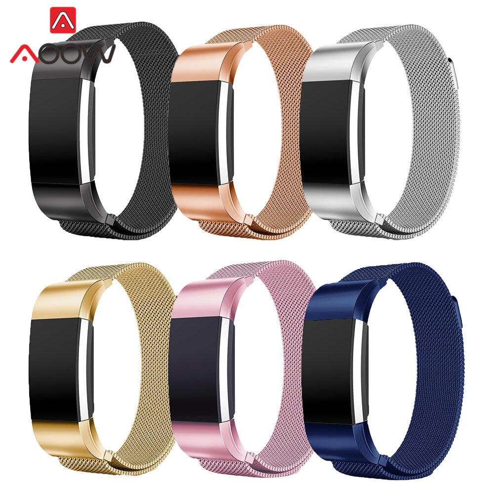 Milanese Schleife Armband für Fitbit charge2 Edelstahl Luxus Rose Gold Ersatz Armband Armband Band für Fitbit gebühr 2