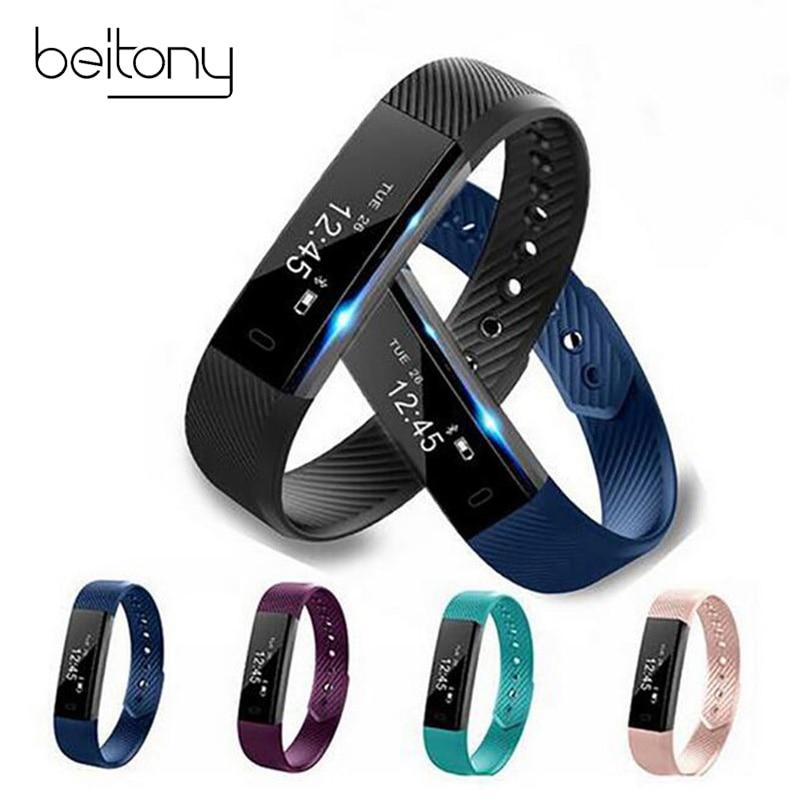 DAWO Fitness Uhr Schrittzähler Fitness Armband Passometer Smart Armband 115 Smart Band Hembeer Schrittzähler Smart Band