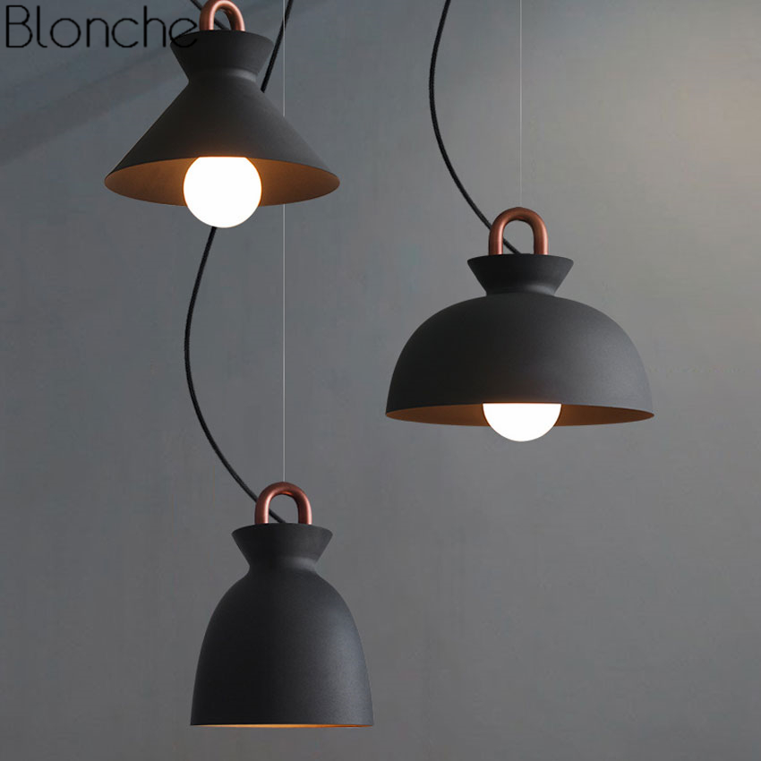 Nordic Modern Iron Pendant Lights Led Hanging Lamp Industrial Loft for Indoor Living Room Bedroom Kitchen Art Decor E27 Lighting