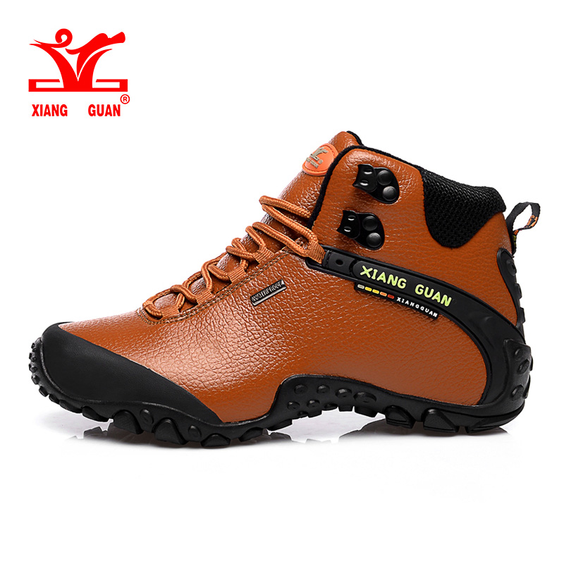 2017 Xiang Guan Winter Men's Hiking Shoes Outdoor Warm Sports Sneakes Black Men Anti-slip Climbing Shoes Windproof Footwear пледы funnababy lily milly