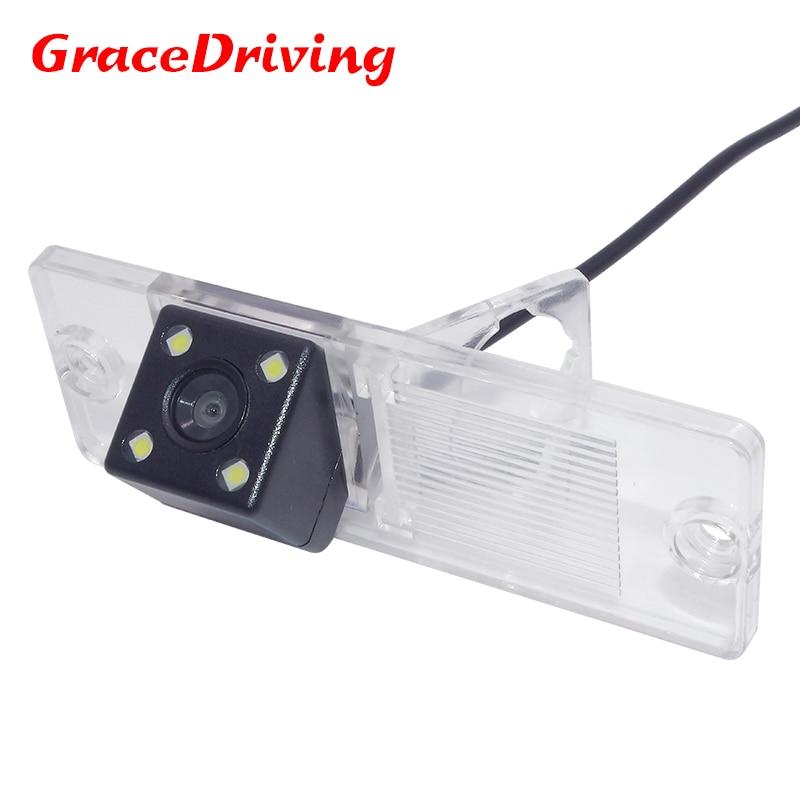 Coque en plastique étanche à la pluie de voiture réserve caméra de recul apporter 4 led adapter pour Mitsubishi Pajero Zinger L200 V3 V93 V5 V6 V8 V97