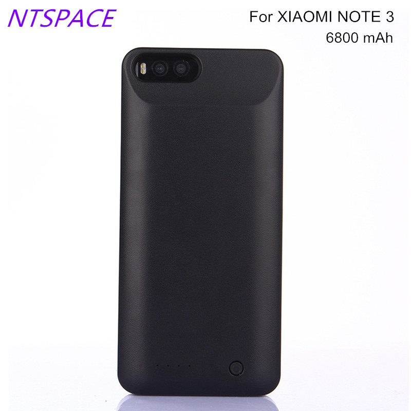 NTSPACE 6800mAh Fashion Portable Power Bank Cover Battery Charger Cases For Xiaomi Mi Note 3 External