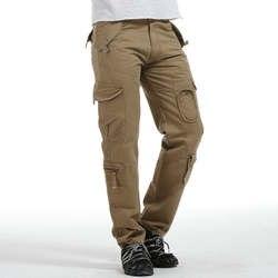 2018 г. Лидер продаж, Модные Военные брюки-карго Для мужчин Повседневное хлопок мульти карман прямо Тактический Для мужчин брюки