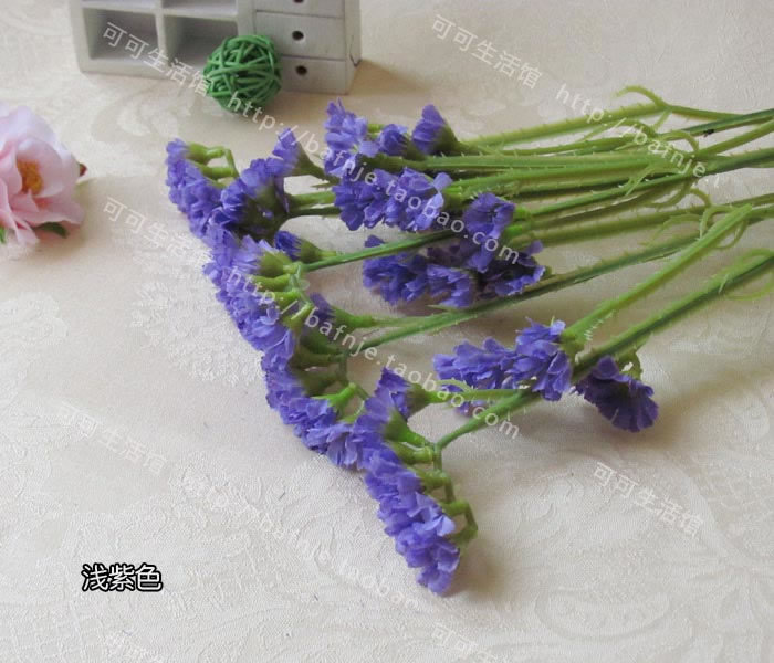 6 Piecelot Free Shipping Forget Me Not Artificial Flower Purple
