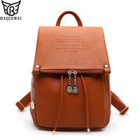 2015 Fashion Design Genuine Leather Women Backpack Casual School Bags For Teenagers Girls High Quality Female