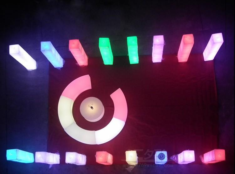 Led lampadaire lumineux couleur décoration lumière salon jardin ...