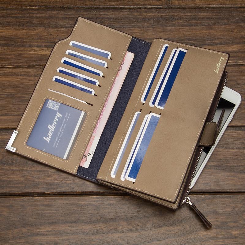 NEW busines Wallet Casual Clutch zipper coin Pocket wallet Clutch purse long wallet portfolio Card Holder Multi-card bit Purse