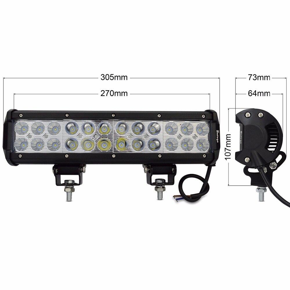 1 τεμ 12inch οδήγησε φως μπαρ 24pcs * 3w LED - Φώτα αυτοκινήτων - Φωτογραφία 6