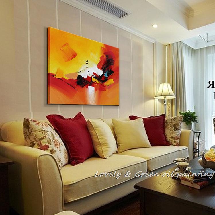 Pura Pintura À Mão Pintura A Óleo Abstrata Da Arte Da Parede Decoração Home  Living Room Decor Pintura A óleo Sobre Tela Frete Grátis HY41231