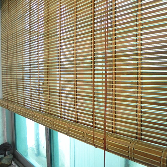 Cheap Bamboo Curtain Shutter Blinds Double Bedrooms Office