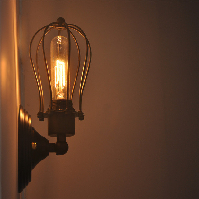 Vintage Small Cage Wall Lamp Light
