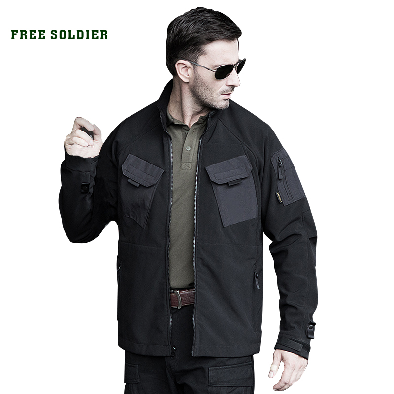 Soft-Shell-Jacket Free Soldier Shell-Lining Military Tactic Men With Warrior Slim-Fit