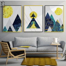 Nordic Modern Posters And Prints Wall Art Canvas Painting Geometric Wall Pictures For Living Room Scandinavian Decoration(China)