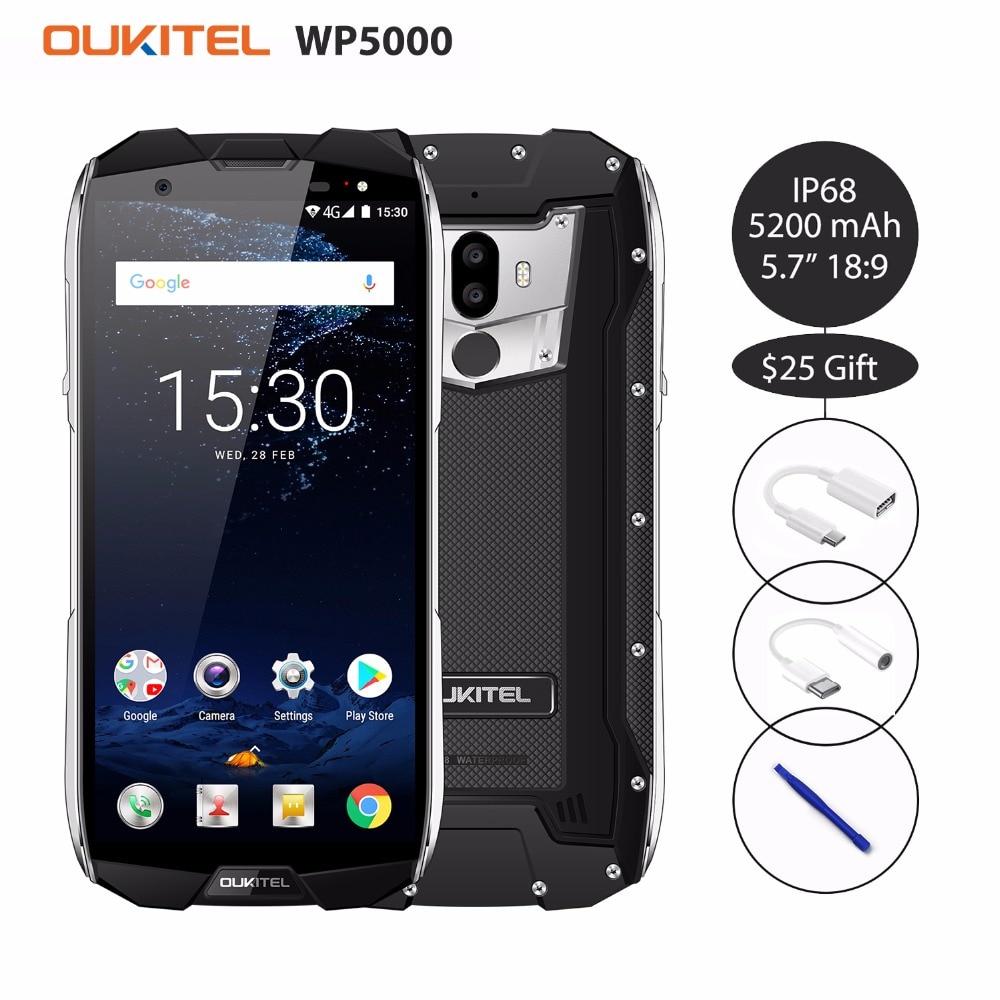 Купить Oukitel WP5000 IP68 Водонепроницаемый 6 ГБ, 64 ГБ и 5200 mAh 5,7