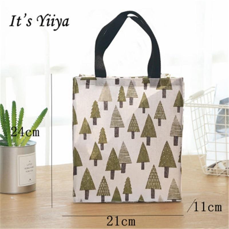 Its Yiiya 2018 Fashion Girls Handbags Shoulder Bags Potable Student Lunch Bags Cartoon Prints Shopping Bag GW8004