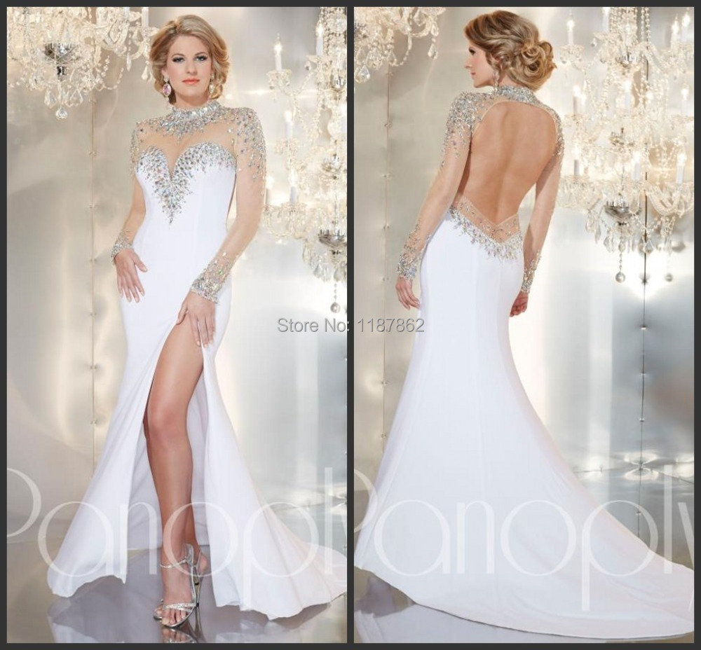 Ed 0507 summer beach long sleeve evening dress 2014 luxury for Sexy summer wedding dress