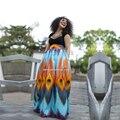 Vestidos para as mulheres peacock imprimir saias dashiki Africano atacado plus size mulheres roupas longas saia africano africano para senhoras