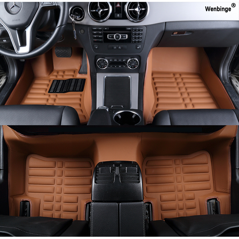 Custom car floor mats for Jaguar All model XF XE XJL XJ6 XJ6L F-PACE F-TYPE brand firm soft car accessorie car styling floor mat piano black car side fender cover trim 3d sticker for jaguar xe f pace xf xfl 2016 f pace car styling accessories