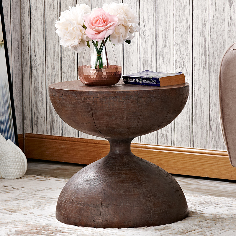 Nordic style sofa corner table hourglass stylish coffee side tables