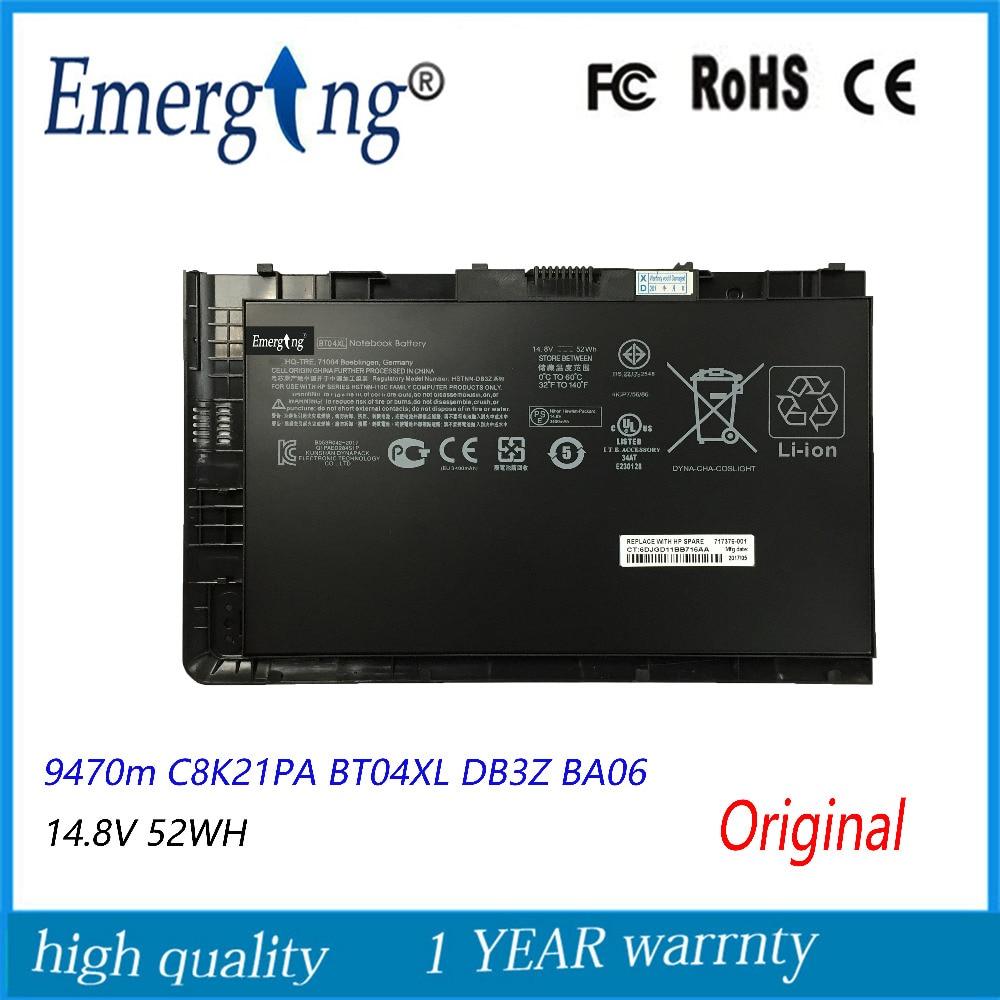 14.8 v 52Wh Nouveau Original batterie d'ordinateur portable pour HP EliteBook Folio 9470 9470 M Série HSTNN-IB3Z HSTNN-I10C BT04XL BA06 687517-1C1