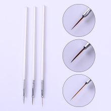 3pcs Nail Art Brush Set Ongle Liner Drawing Liner Pen Paint Brushes Tools Kit #24