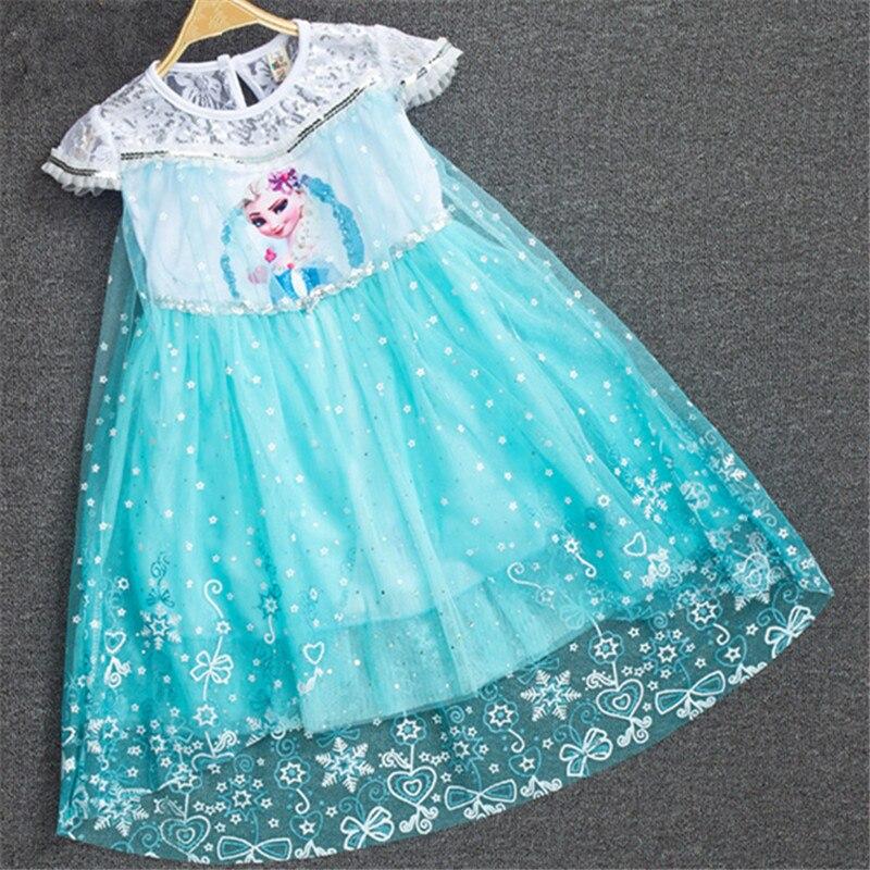 fashion carnival costume children kids child deguisement princessa elsa anna snow queen dress. Black Bedroom Furniture Sets. Home Design Ideas