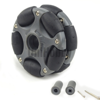 UniHobby H14135 58mm Plastic Omni Wheels For Arduino Robot Kit L E G O NXT And