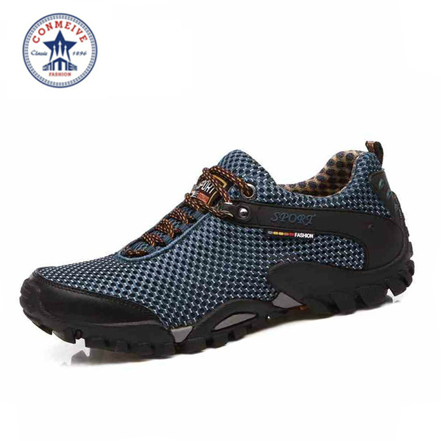 2017 NEW men spring summer outdoor hiking breathable mesh trekking sport camping mens sneakers hunting top quality walking shoes