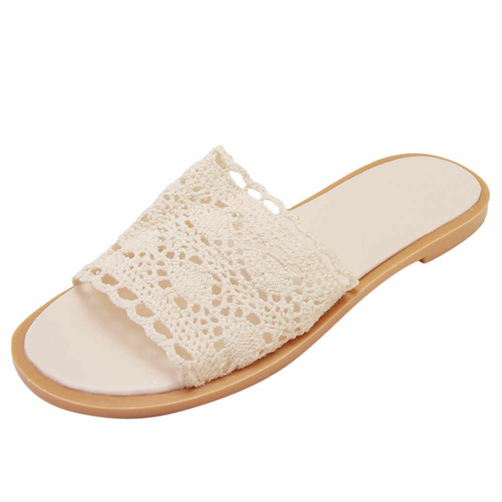 נשים של בית ביתי סנדלי אופנה בוהן פתוח נוח החלקה רך תחתון נעלי בית מקורה גבירותיי נעליים שטוח חוף סנדלי 2019