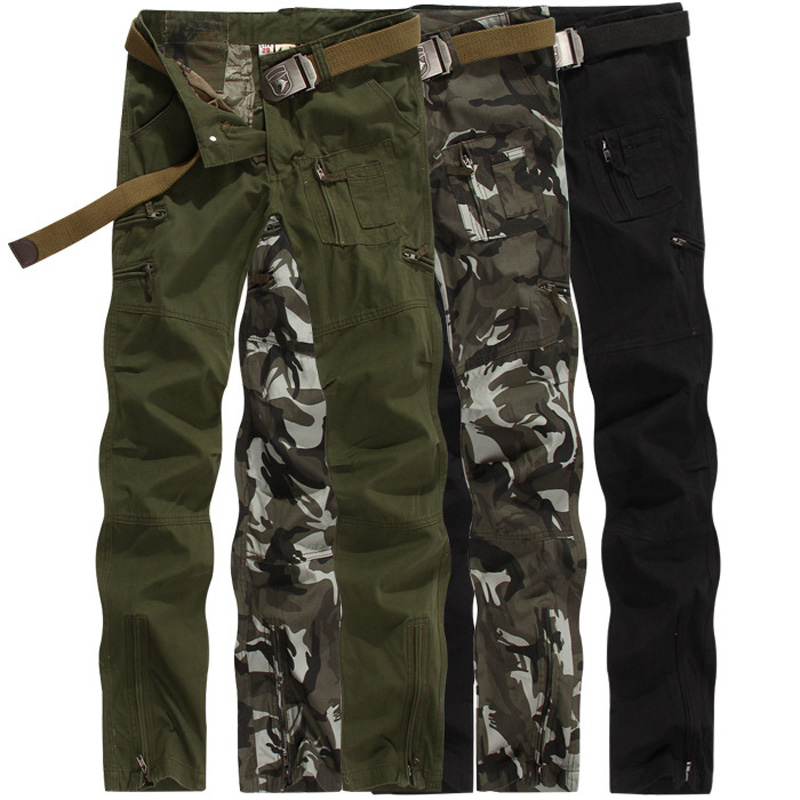 ФОТО Army fans outdoor survival pants men's Slim Straight trousers climbing overalls pants Hunting Hike Outdoors Sport Trouser